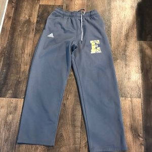 Adidas fleece basketball pants size zipper pocket